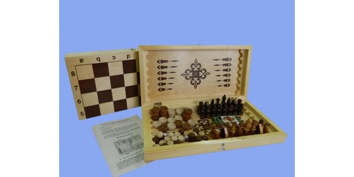 Игра 4 в 1 нарды, шашки, шахматы, карты