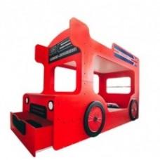 Кровать-автобус двухъярусная Лондон